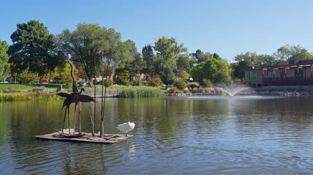 Morning view of the Ashley Pond Park at Los Alamos, New Mexico