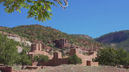 molas : Exterior view of the Jemez Historic Site at New Mexico Stock Footage