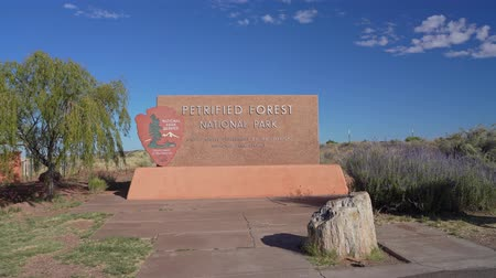 nps : Sign of the Petrified Forest National Park at Arizona