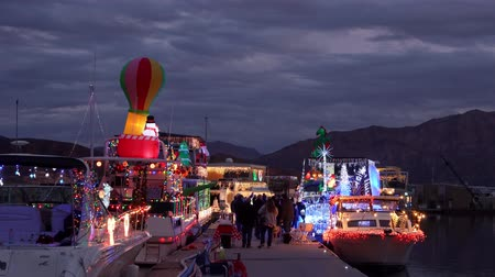 nps : Nevada, DEC 14: Christmas boat display in the Lake Mead on DEC 14, 2019 at Nevada