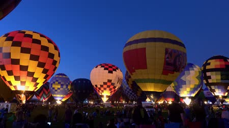 mexico city : Albquerque, OCT 5: Night view of the famous Albuquerque International Balloon Fiesta event on OCT 5, 2019 at Albquerque, New Mexico