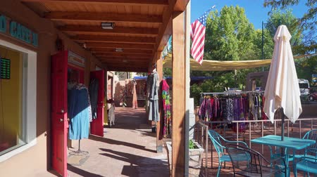 meksyk : Santa Fe, OCT 6: Beautiful cityscape of town center on OCT 6, 2019 at Santa Fe, New Mexico