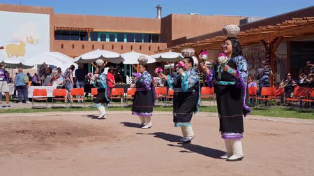 native american culture : Albquerque, OCT 5: People dancing in traditional Zuni Culture performance on OCT 5, 2019 at Albquerque, New Mexico