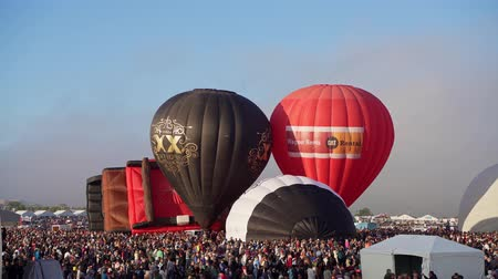 meksyk : Albquerque, OCT 4: Morning view of the famous Albuquerque International Balloon Fiesta event on OCT 4, 2019 at Albquerque, New Mexico