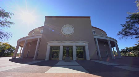 meksyk : Exterior view of the New Mexico State Capitol at New Mexico Wideo
