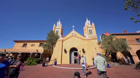 meksyk : Albuquerque, OCT 5: Exterior view of the San Felipe de Neri Church on OCT 5, 2019 at Albuquerque, New Mexico