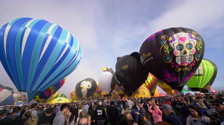 mexico city : Albquerque, OCT 4: Morning view of the famous Albuquerque International Balloon Fiesta event on OCT 4, 2019 at Albquerque, New Mexico