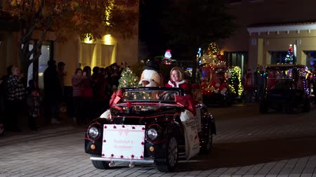 golf : Las Vegas, DEC 21: Night golf cart parade in Lake Las Vegas Area on DEC 21, 2019 at Las Vegas, Nevada