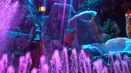 izzók : Las Vegas, DEC 12: Interior view of the Sams towns Mystic Falls Park waterfall show on DEC 12, 2019 at Las Vegas, Nevada Stock mozgókép