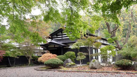 japonská kultura : Kakunodate, OCT 21: Exterior view of the Kakunodate Samurai House on OCT 21, 2019 at Kakunodate, Japan