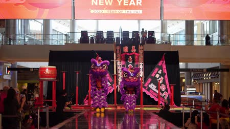 cny : Las Vegas, JAN 26:  Chinese New Year celebration in the Fashion Show shopping mall on JAN 26, 2020 at Las Vegas, Nevada