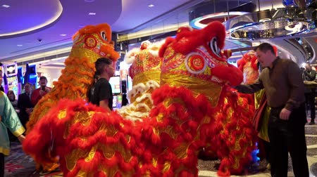 ano novo chinês : Las Vegas, Jan 28: Interior view of the Chinese New Year event in the Cosmopolitan on JAN 28, 2020 at Las Vegas, Nevada
