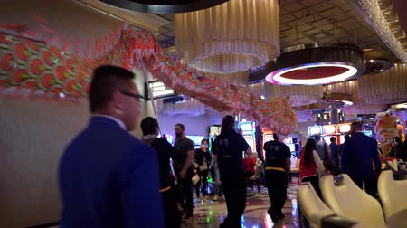 lion : Las Vegas, Jan 28: Interior view of the Chinese New Year event in the Cosmopolitan on JAN 28, 2020 at Las Vegas, Nevada