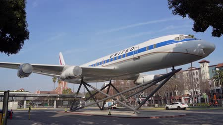 los angeles : Los Angeles, Jan 15: Afternoon sunny view of the Douglas DC-8 airplane on JAN 15, 2020 at Los Angeles, California