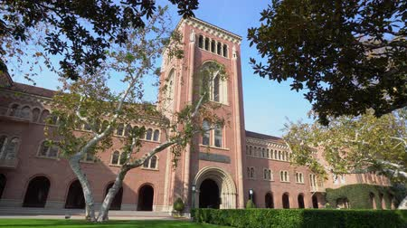 los angeles : Afternoon sunny view of the Bovard Auditorium of USC at Los Angeles, California