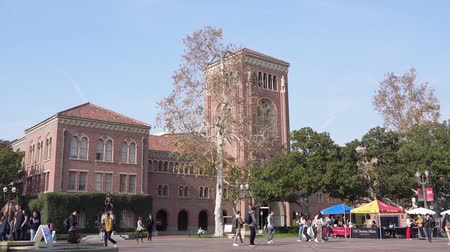 los angeles : Los Angeles, Jan 15: Afternoon sunny view of the Bovard Auditorium of USC on JAN 15, 2020 at Los Angeles, California