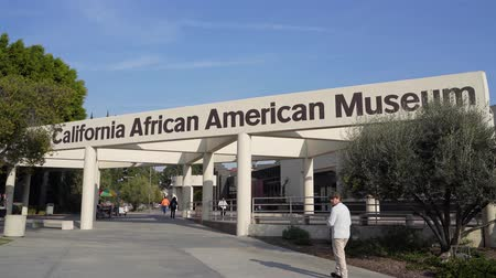 los angeles : Los Angeles, Jan 15: Exterior view of the California African American Museum on JAN 15, 2020 at Los Angeles, California