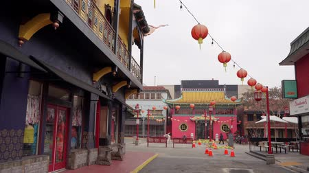 chinees nieuwjaar : Los Angeles, Jan 16: Central plaza of Chinatown on JAN 16, 2020 at Los Angeles, California