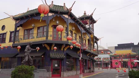 américa central : Los Angeles, Jan 16: Central plaza of Chinatown on JAN 16, 2020 at Los Angeles, California