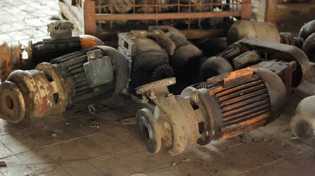 The old rattled electric motors