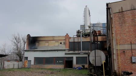 smoke in the old factory