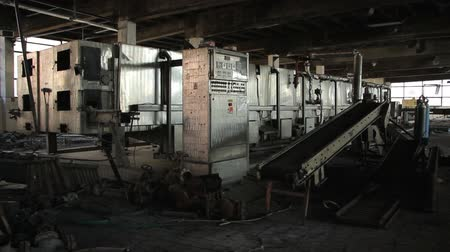 The interior of the old factory