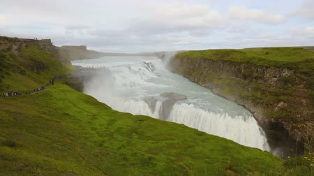 gullfoss : Beautiful gullfoss waterfall in Iceland in the summer