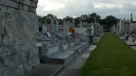 lafayette : driving shot across tombs in Metairie cemetery New Orleans
