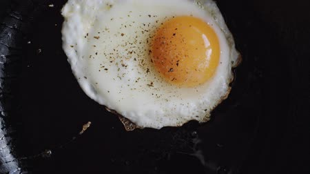 bread pan : Egg fried in a pan