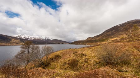 Time lapse of clouds, rain and sea at Onich in Scottish Higlands.