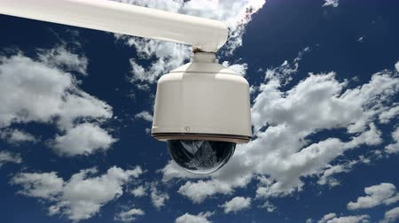 безопасность : Security Camera With Time Lapse Clouds