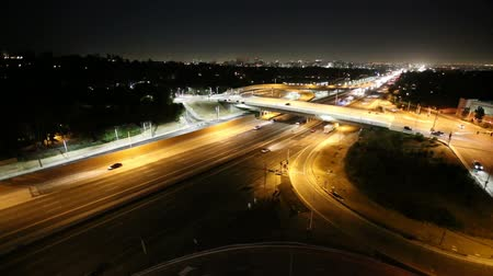 usa : San Diego 405 Freeway Night - West Los Angeles