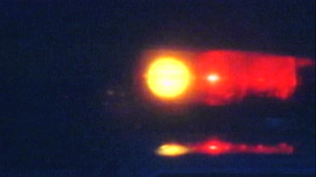 policja : Vintage 1988 super 8 footage of LAPD police car lights.