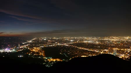 kopec : Los Angeles dusk to night valley view time lapse.