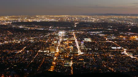 amerika : Glendale and Downtown Los Angeles Nightfall