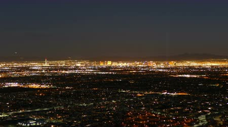 nevada : Las Vegas dusk to night cityscape mountaintop time lapse.