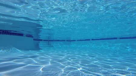 yüzme havuzu : Empty Swimming Pool Underwater Stok Video