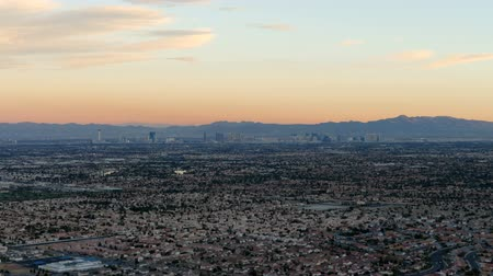 nevada : Las Vegas Valley Sunset Time Lapse Stock Footage