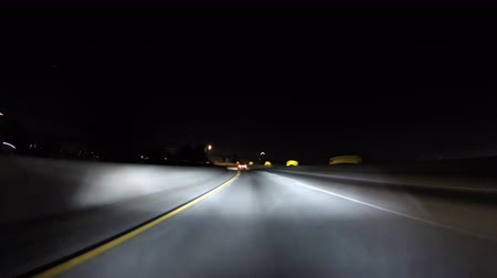 samochody : Night time lapse on the Golden State 5 Freeway in Los Angeles California. Wideo