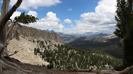 nevada : Growing summer clouds time lapse near Mammoth Lakes in Californias Sierra Nevada Mountains. Stock Footage