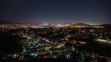 gün : Thousand Oaks dusk to night time lapse in Southern California. Stok Video