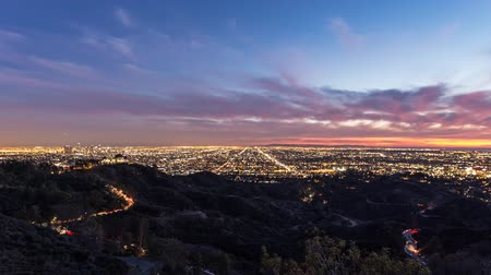 locatie : Los Angeles Griffith Park schemering time lapse.