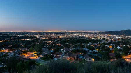 sociedade : Glendale dawn sunrise time lapse view towards downtown Los Angeles, California. Stock Footage