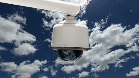 aparat : Security Camera with Time Lapse Clouds and Zoom In