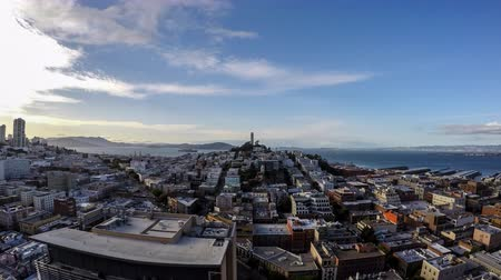 san francisco : San Francisco cityscape time lapse cloud movement.