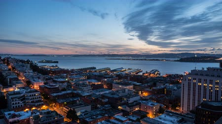 quartiere : Baia di San Francisco Alba Time lapse Filmati Stock