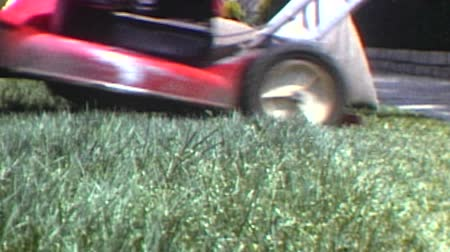 ogrodnik : Mowing the Lawn Vintage 1982 Super 8 Time Lapse Driving Shot