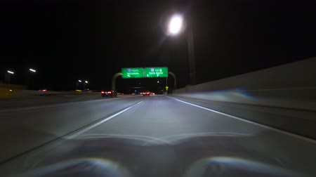 time laps : Los Angeles night driving time lapse from route east 118 into the 405 south freeway car pool lane in the San Fernando Valley.