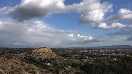 time laps : Los Angeles winter clouds time lapse view towards Stoney Point in the northwest San Fernando Valley.