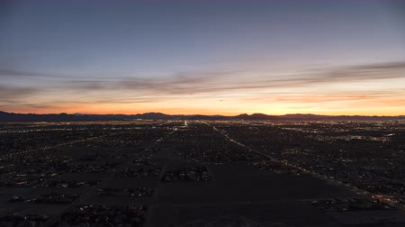 Sunrise time lapse view from the top of Lone Mountain towards North Las Vegas, Nevada.